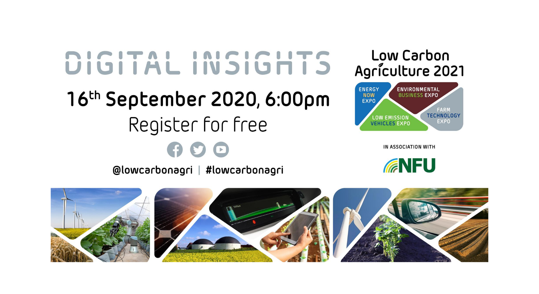Low Carbon Agriculture show launches Digital Insights webinars