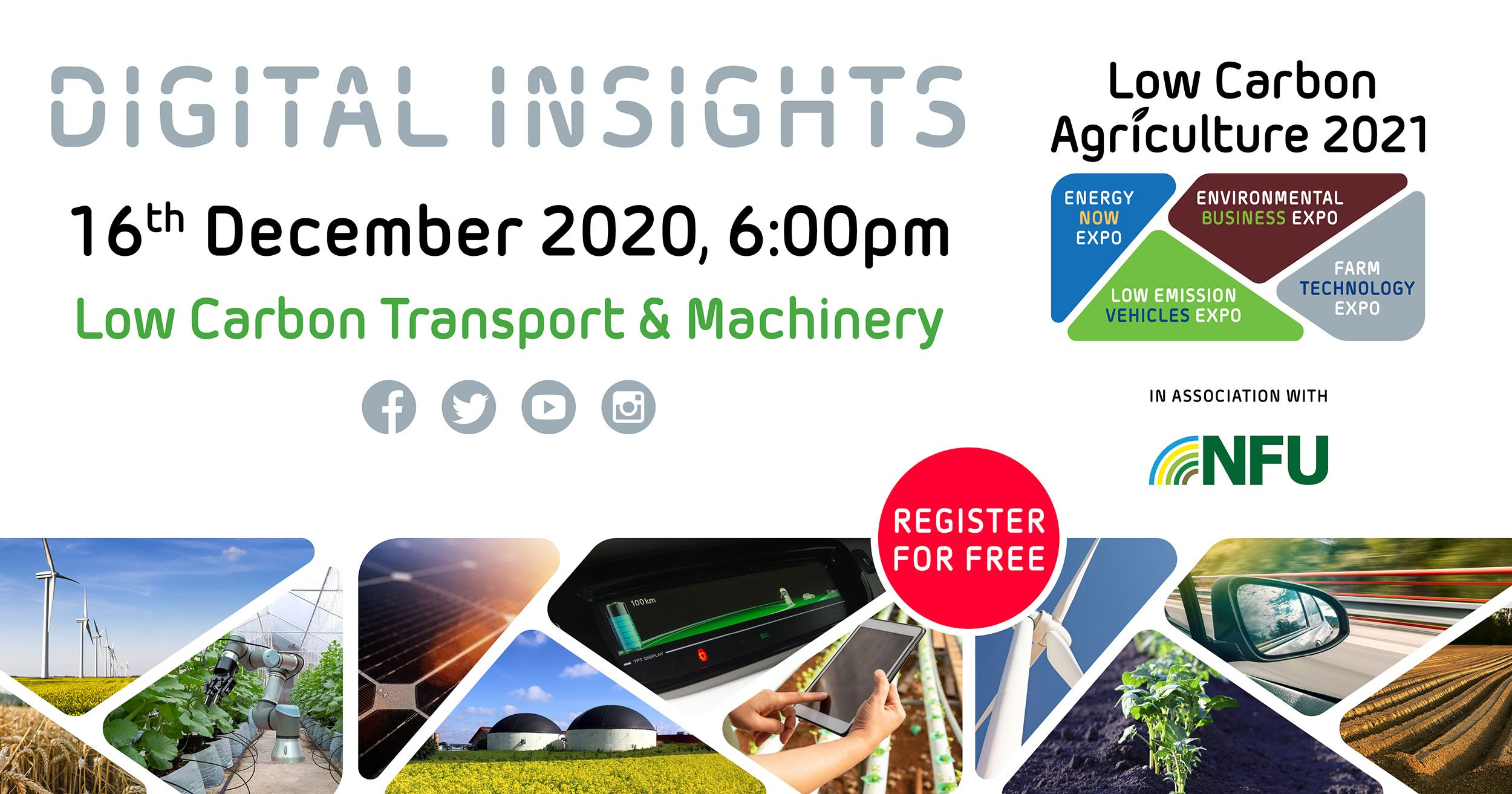 December Digital Insights webinar will discuss 'Low Carbon Transport and Machinery'