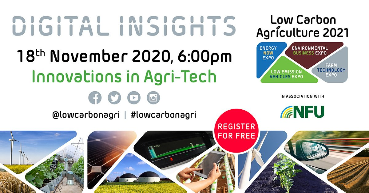 'Innovations in Agri-Tech' Digital Insights webinar launched